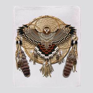 Red-Tail Hawk Dreamcatcher Throw Blanket