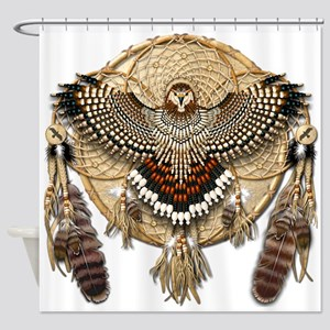 Red-Tail Hawk Dreamcatcher Shower Curtain
