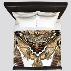 Red-Tail Hawk Dreamcatcher King Duvet