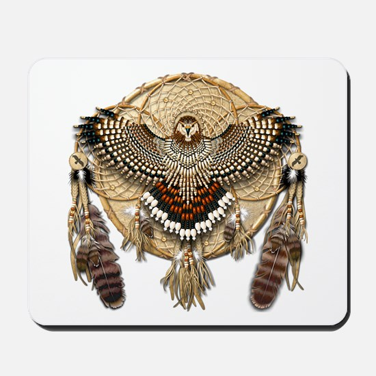 Red-Tail Hawk Dreamcatcher Mousepad