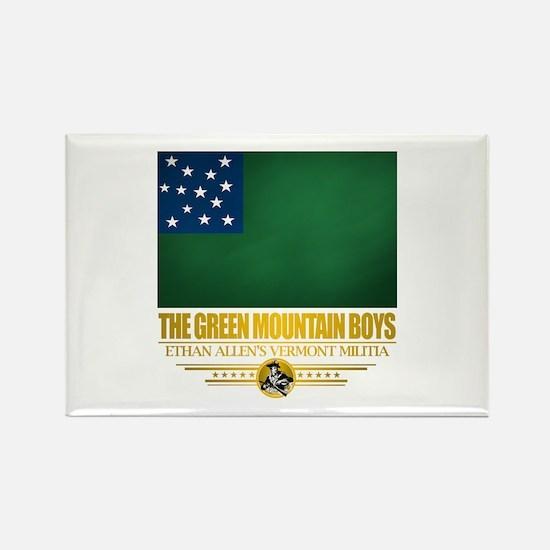 """""""The Green Mountain Boys"""" Rectangle Magnet"""
