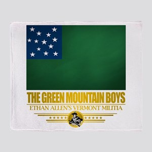 """The Green Mountain Boys"" Throw Blanket"