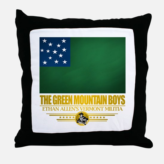 """The Green Mountain Boys"" Throw Pillow"