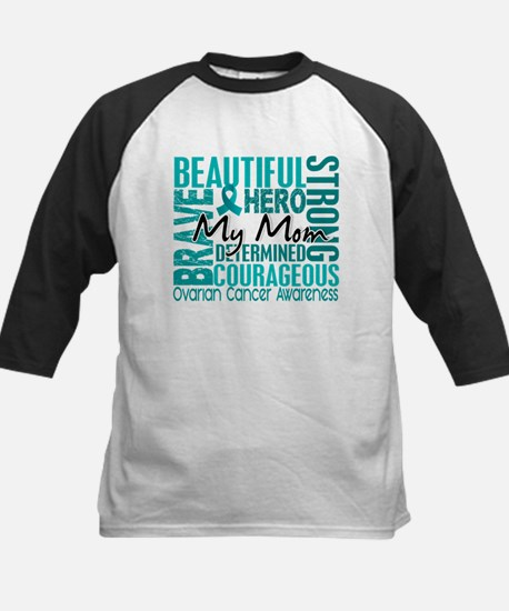 Tribute Square Ovarian Cancer Kids Baseball Jersey
