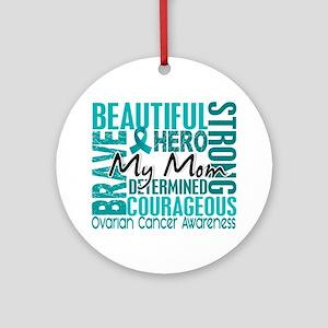 Tribute Square Ovarian Cancer Ornament (Round)