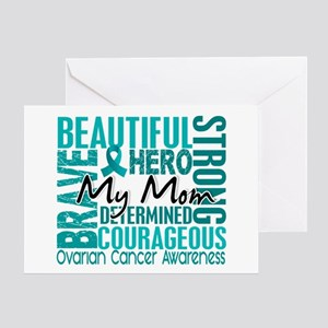 Tribute Square Ovarian Cancer Greeting Card