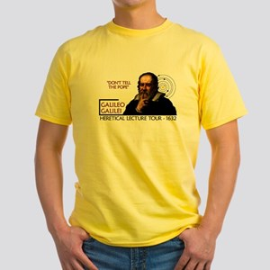 Galileo Heresy Tour Yellow T-Shirt