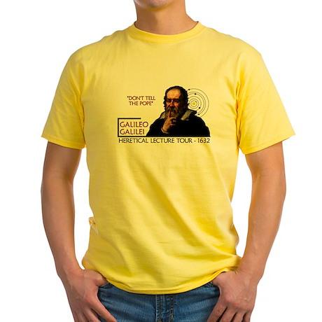 Galileo Heresy Tour Yellow T-Shirt