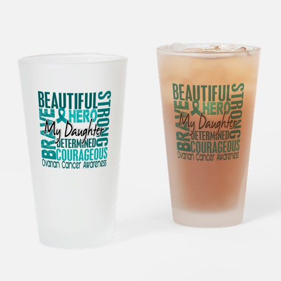 Tribute Square Ovarian Cancer Drinking Glass