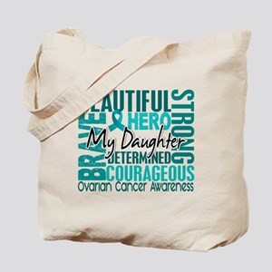 Tribute Square Ovarian Cancer Tote Bag