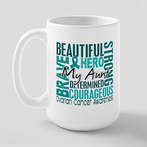 Tribute Square Ovarian Cancer Large Mug