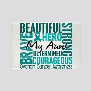Tribute Square Ovarian Cancer Rectangle Magnet