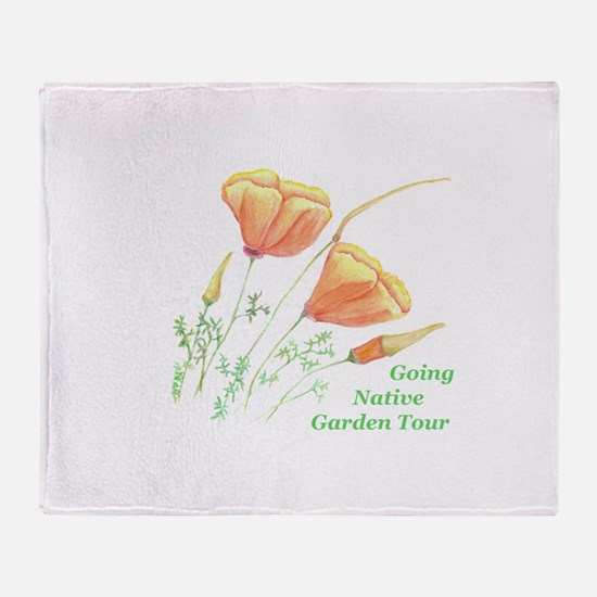 Cute California poppies Throw Blanket