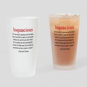 Loquacious - Thoreau Drinking Glass