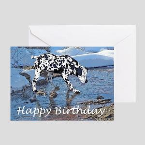 Dalmation on ice Greeting Card
