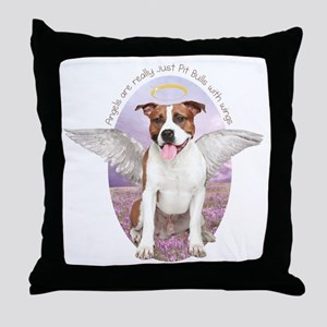 Pit Bull Angel Throw Pillow
