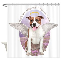 Pit Bull Angel Shower Curtain