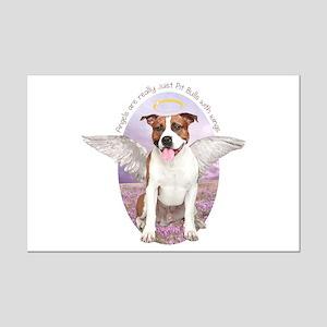 Pit Bull Angel Mini Poster Print
