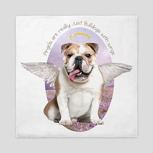 Bulldog Angel Queen Duvet