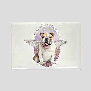 Bulldog Angel Rectangle Magnet