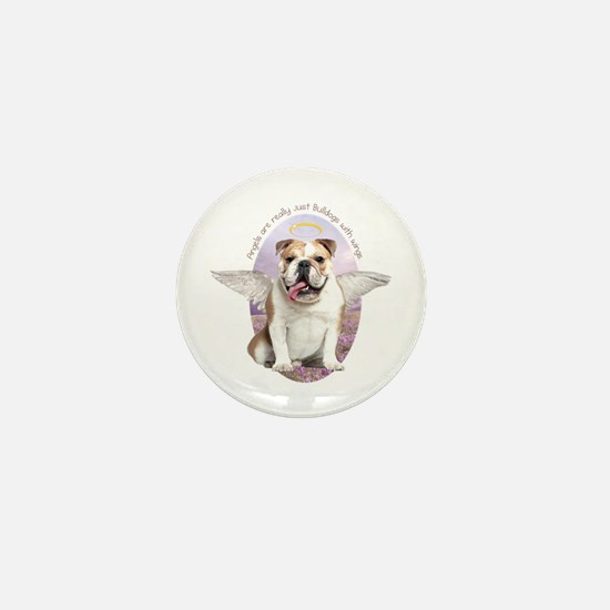 Bulldog Angel Mini Button