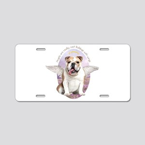 Bulldog Angel Aluminum License Plate