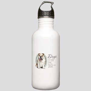 Dogs Make Lives Whole -Bulldog Stainless Water Bot