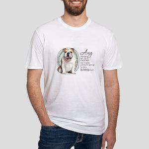 Bulldog Mom Fitted T-Shirt