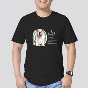 Bulldog Mom Men's Fitted T-Shirt (dark)