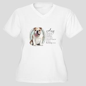Bulldog Mom Women's Plus Size V-Neck T-Shirt