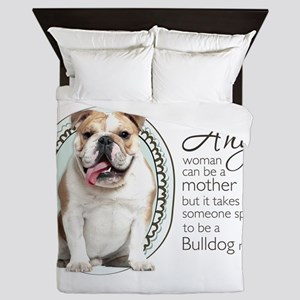 Bulldog Mom Queen Duvet