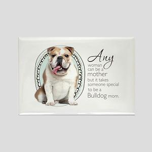 Bulldog Mom Rectangle Magnet