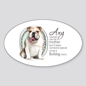 Bulldog Mom Sticker (Oval)