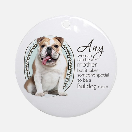 Bulldog Mom Ornament (Round)