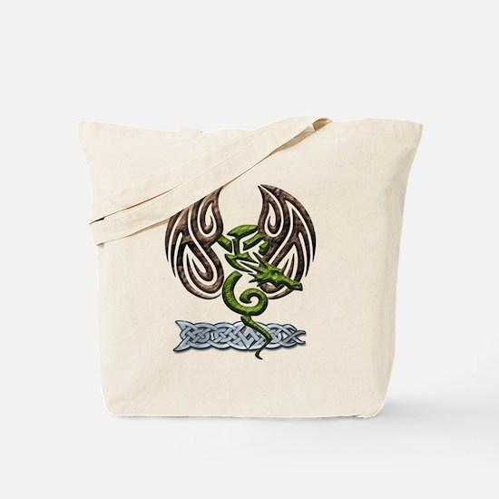 Green Dragon Tote Bag