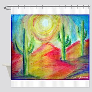 Desert, Sunset, art, Shower Curtain
