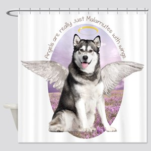 Malamute Angel Shower Curtain