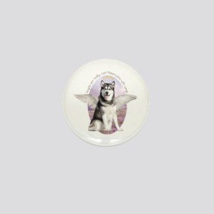 Malamute Angel Mini Button