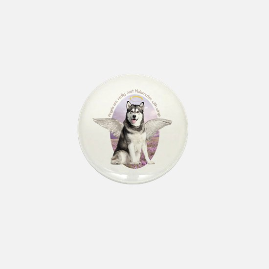 Malamute Angel Mini Button