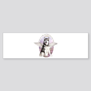 Malamute Angel Sticker (Bumper)