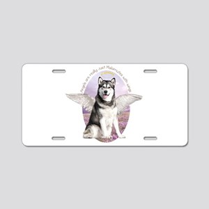 Malamute Angel Aluminum License Plate