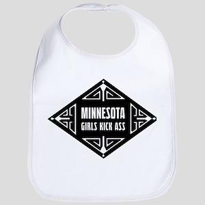 Minnesota Girls Kick Ass Bib