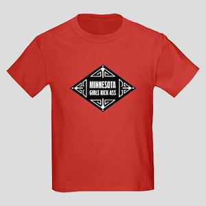 Minnesota Girls Kick Ass Kids Dark T-Shirt