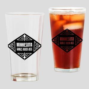 Minnesota Girls Kick Ass Drinking Glass