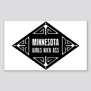 Minnesota Girls Kick Ass Sticker (Rectangle)