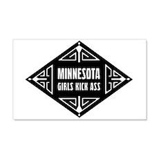 Minnesota Girls Kick Ass 22x14 Wall Peel