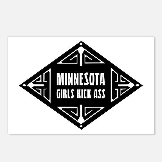 Minnesota Girls Kick Ass Postcards (Package of 8)