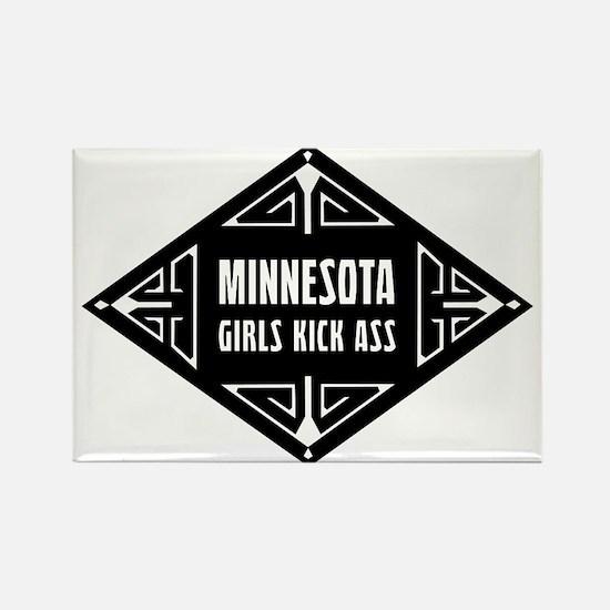 Minnesota Girls Kick Ass Rectangle Magnet
