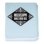 Mississippi Girls Kick Ass baby blanket