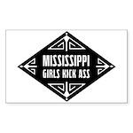 Mississippi Girls Kick Ass Sticker (Rectangle 10 p